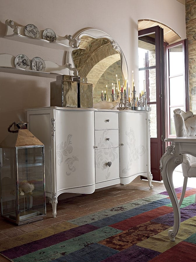 Carpi cupboard, Classic style cupboard, with handmade decorations