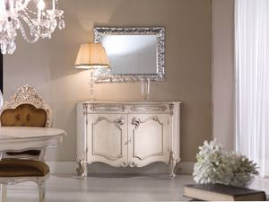 Chippendale sideboard 2 doors lacquered, Elegant classic lacquered sideboard