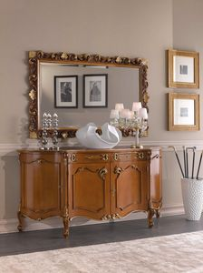 Chippendale sideboard 4 doors, Traditional style sideboard