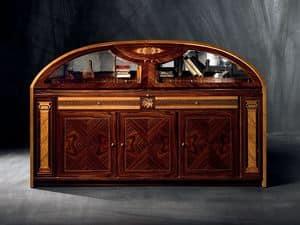 CR36 Hermitage, Semicircular inlaid sideboard with folding doors