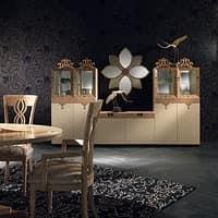 CR38 Dalì sideboard, Modular wooden Sideboard, living room furniture