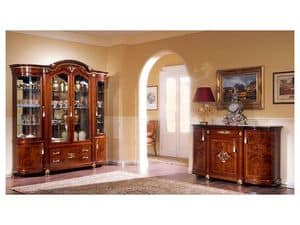 DUCALE DUCCR4PB / Sideboard with 4 doors B, Sideboard in ash with fine inlays, classic style
