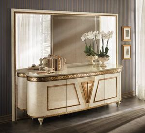 Fantasia 4 doors sideboard, Classic sideboard, with rounded sides