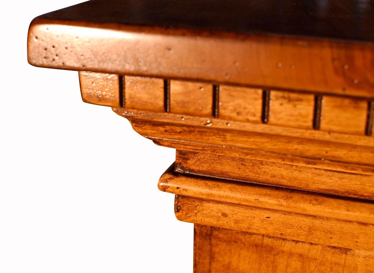 Fosciandora ME.0448, Walnut sideboard with 3 doors, inlaid, classic