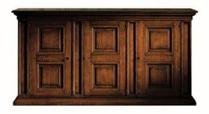 Fosciandora ME.0448, Walnut sideboard with 3 doors, inlaid, classic