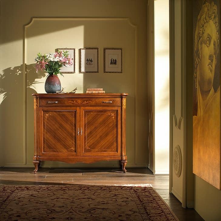 G 101, Walnut sideboard, decor in maple, water based stain