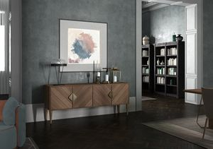 Intrigue sideboard, Contemporary classic sideboard, with 4 swing doors