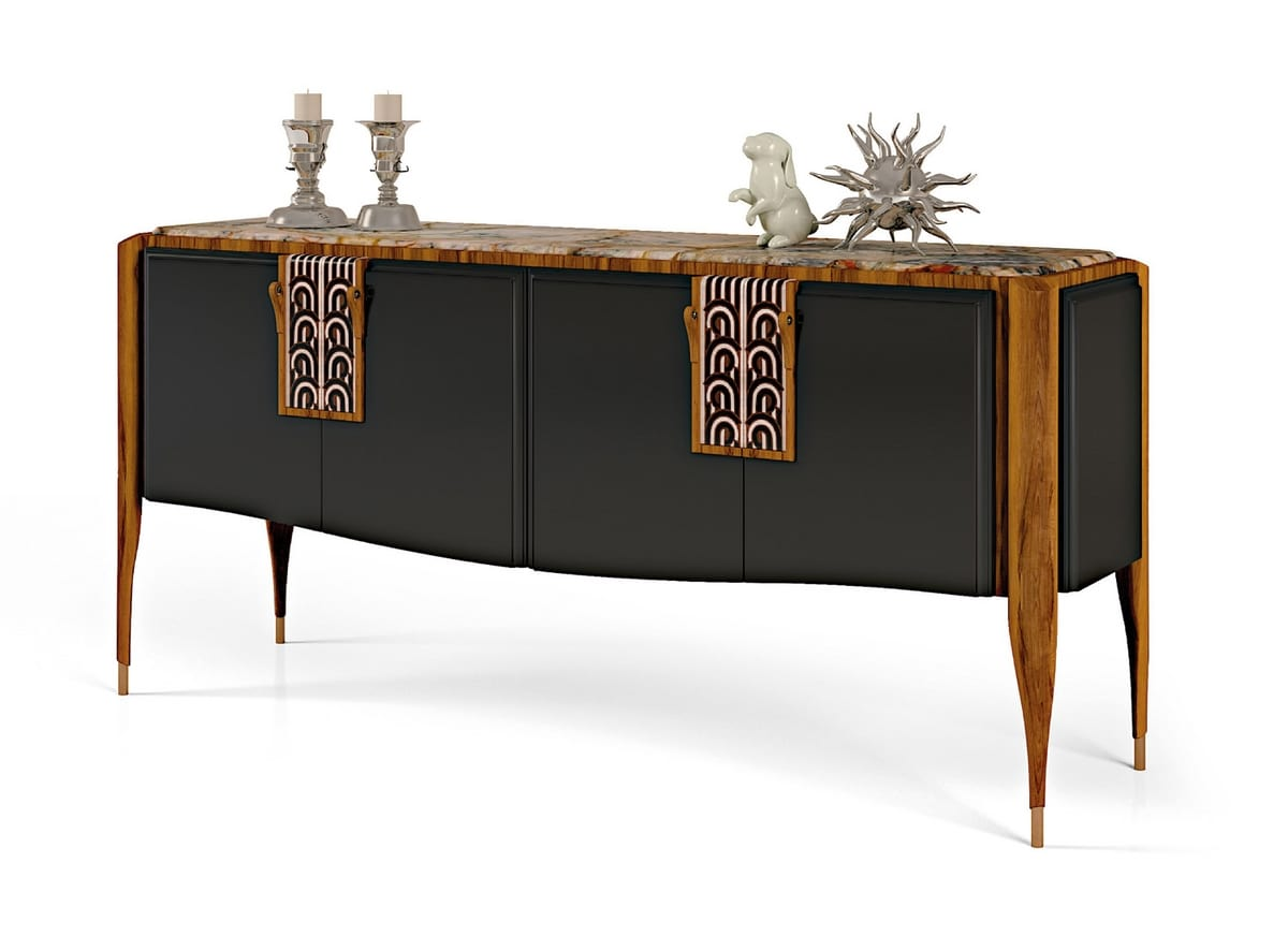LEXINGTON AVENUE Sideboard, Luxury sideboard in inlaid wood