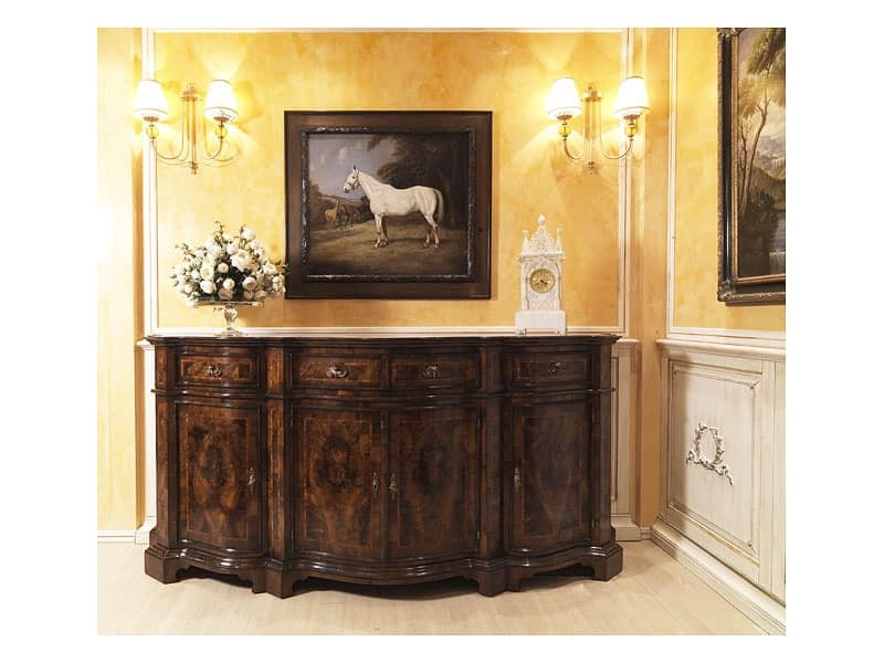 Lombarda sideboard 866, Cupboard for the dining room, classic style