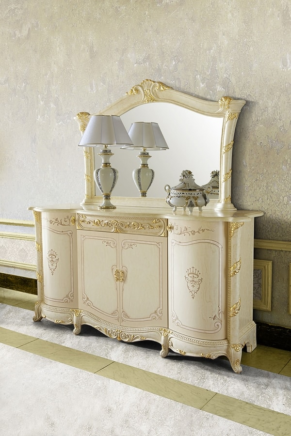 Madame Royale sideboard, Classic sideboard, hand decorated