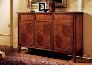 Minoa sideboard, Sideboard with precious inlays