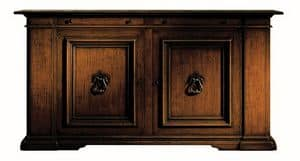 Montevarchi ME.0457, Renaissance cupboard in walnut with iron handles