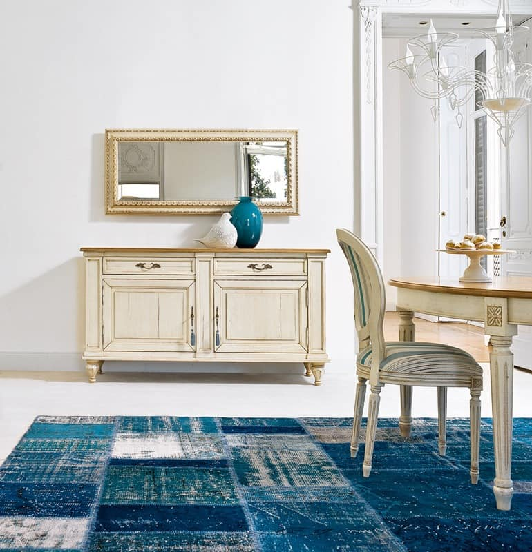 NINFEA Art. 1008, Classic wooden sideboard with drawers