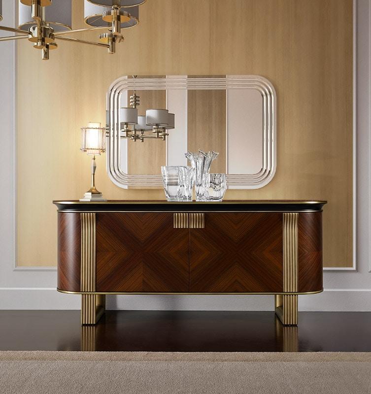 Oliver Art. OL03, Elegant sideboard with an elliptical profile