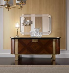 Oliver Art. OL03, Elegant sideboard with an elliptical profile