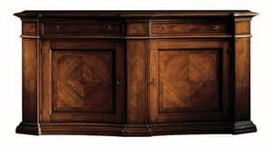 Pietrasanta ME.0466, Walnut sideboard with herringbone decorations