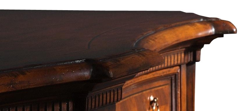 Pietrasanta ME.0466, Walnut sideboard with herringbone decorations
