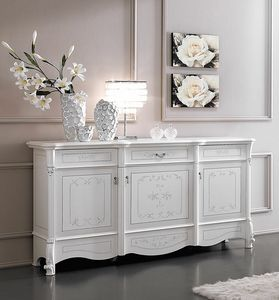 Prestige Art. 606, Sideboard with handcrafted decorated fronts