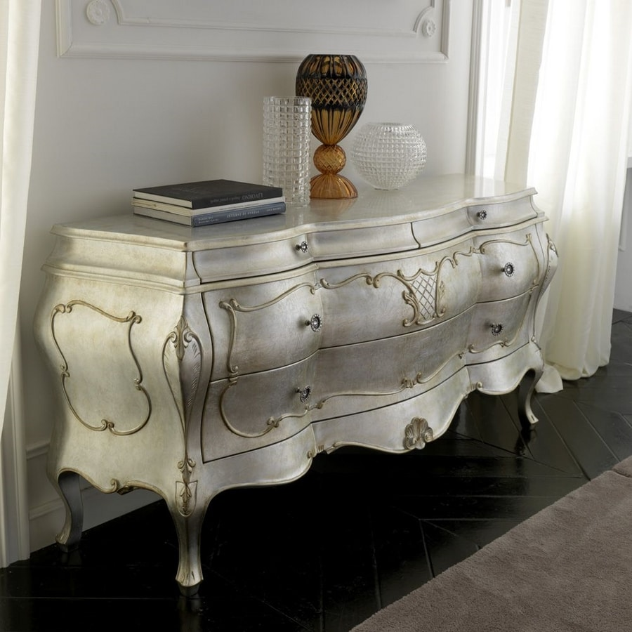 Principessa sideboard, Classic style rounded sideboard