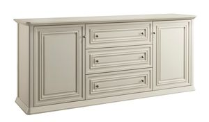 Romantica sideboard 7516, Wooden sideboard with 3 drawers