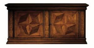 Scandicci ME.0450.B, Cupboard in walnut inlaid, for luxury hotels