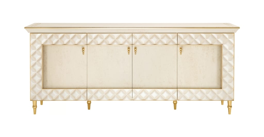 SIPARIO sideboard, Classic sideboard with quilted frame