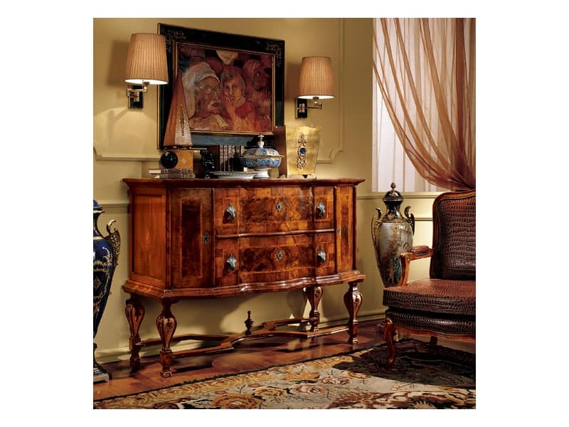 Venezia sideboard 827, Classic style sideboard with inlays