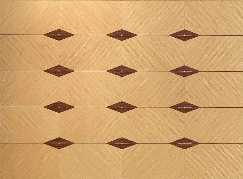BOIS10 Galileo, Paneling in inlaid wood, for hotels and restaurants