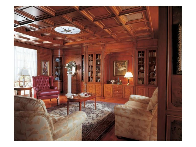 Classic Style Paneling In Wood For Living Rooms Idfdesign
