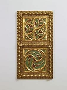 DECORATIVE PANEL / CEILING ART. AC 0009 , Golden decorative panel, in classic style