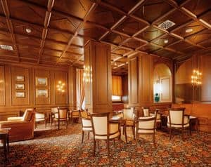 False ceilings, Typical ceiling in wood ideal for luxury hotels