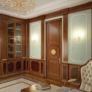 Wooden Panelling, Wood paneling for hotels and villas, ideal matched wuth classic style furniture
