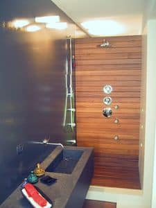 ZEN, Wood paneling bathroom, tailored