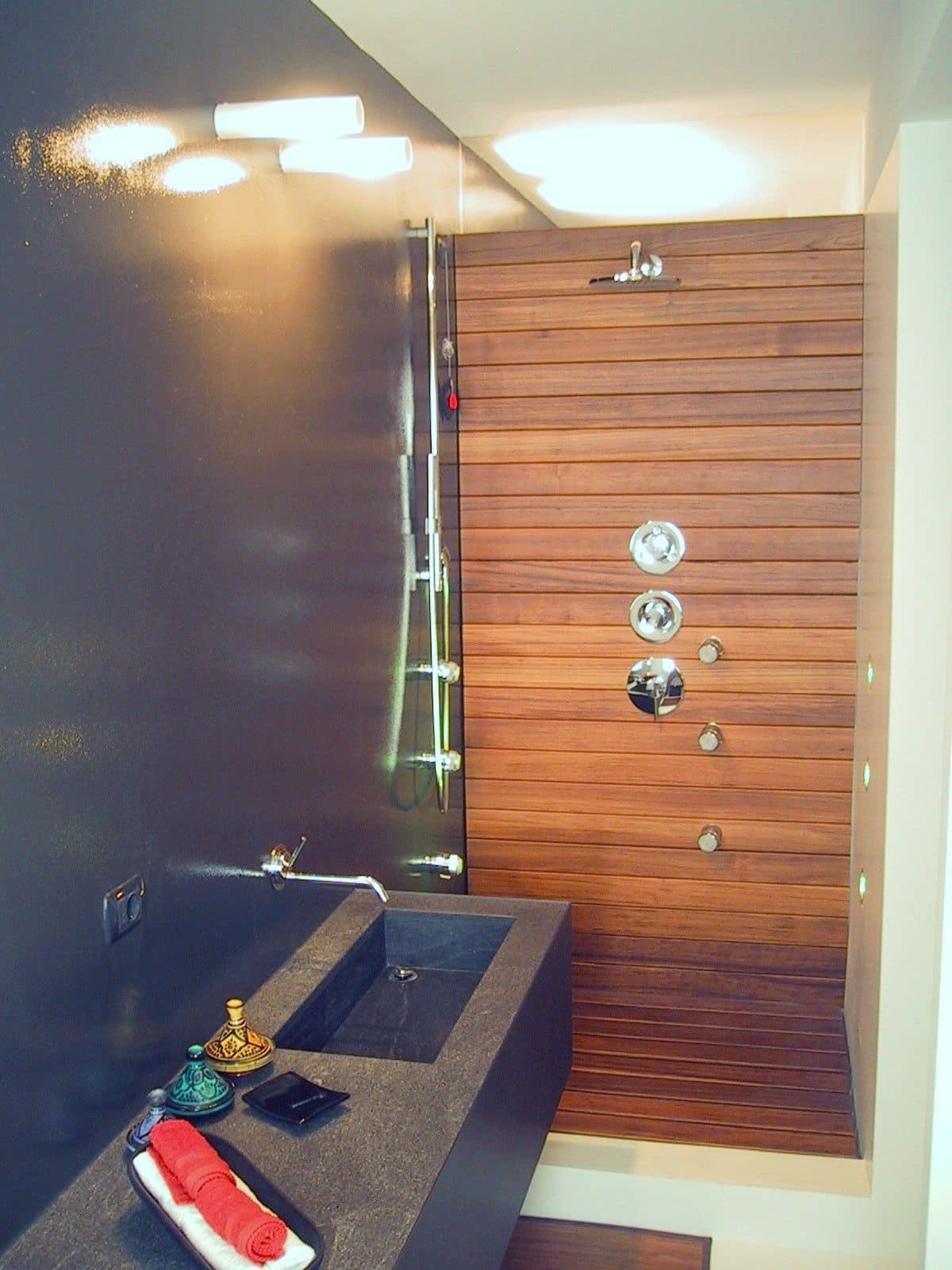 ZEN, Wood Paneling Bathroom, Tailored