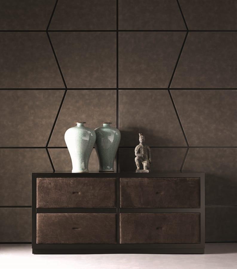 Zenit Boiserie, Wooden boiserie with metal profiles