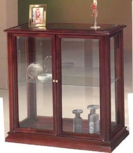 2055 CABINET, Small cabinet in wood and glass, classic style