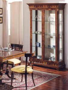 2845 display cabinet, Walnut display cabinet, for dining room
