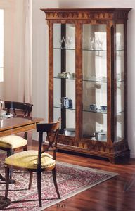 2845 DISPLAY CABINET, Outlet classic showcase, in inlaid wood