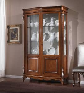 3625 DISPLAY CABINET, Showcase luxurious, hand carved, classic style