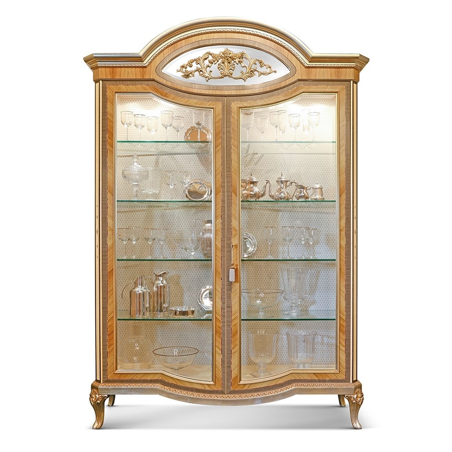 AGNES / display cabinet, Luxurious display cabinet, with inlaid details