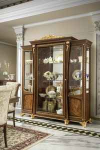 Aida display cabinet 4 doors, Display cabinet in classic style