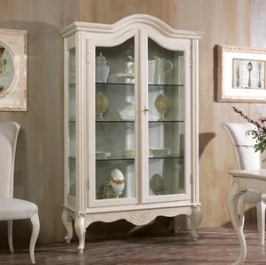 Art. 0165, Classic display cabinet with sides and shelves in glass