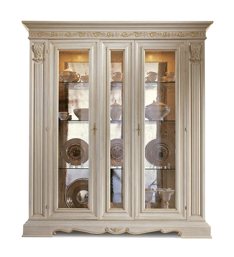 Luxury glass showcase for living room | IDFdesign