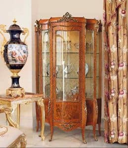 Art. 71, Traditional display cabinet for stays, with 1 door, floral decorations