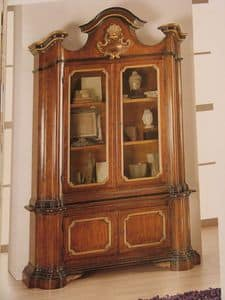 Art. 896, Display cabinet in classic luxury, walnut, for dining room