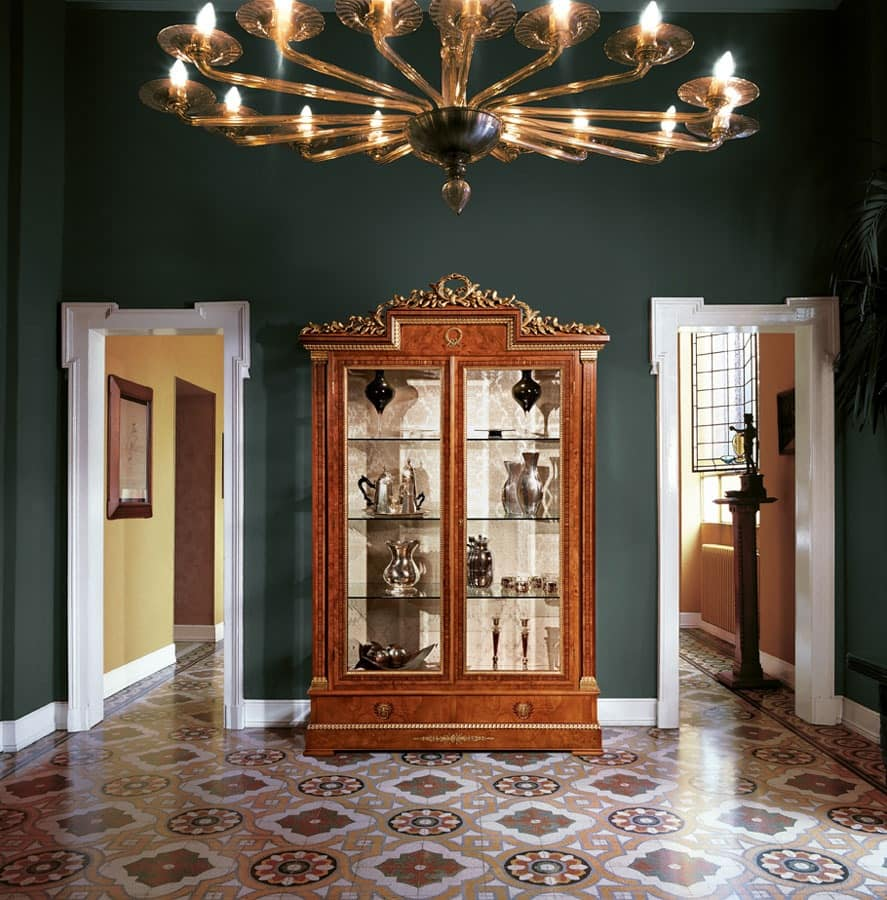 Art. 918, Display cabinet with 2 glass doors for living rooms