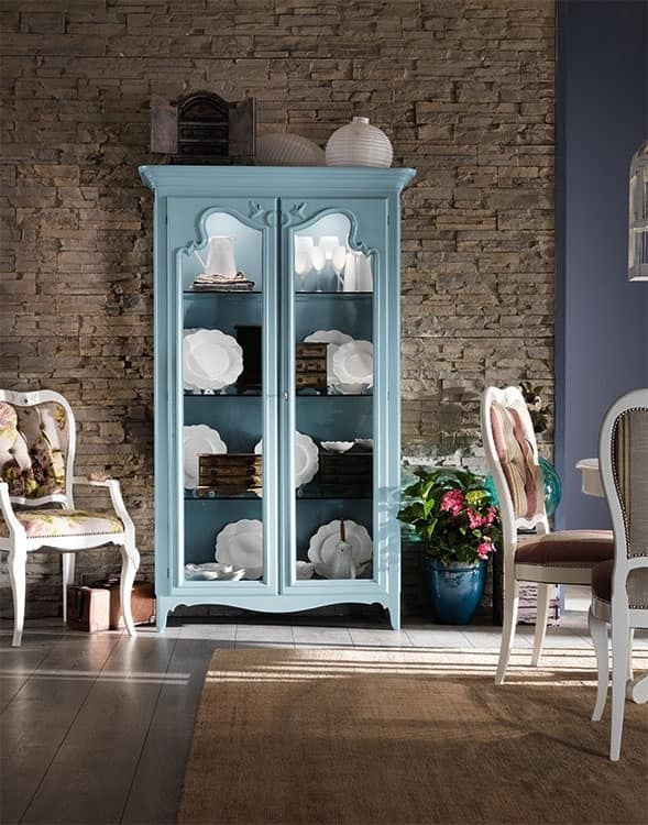 Art. AX103, Cabinet in country-chic, pastel finish