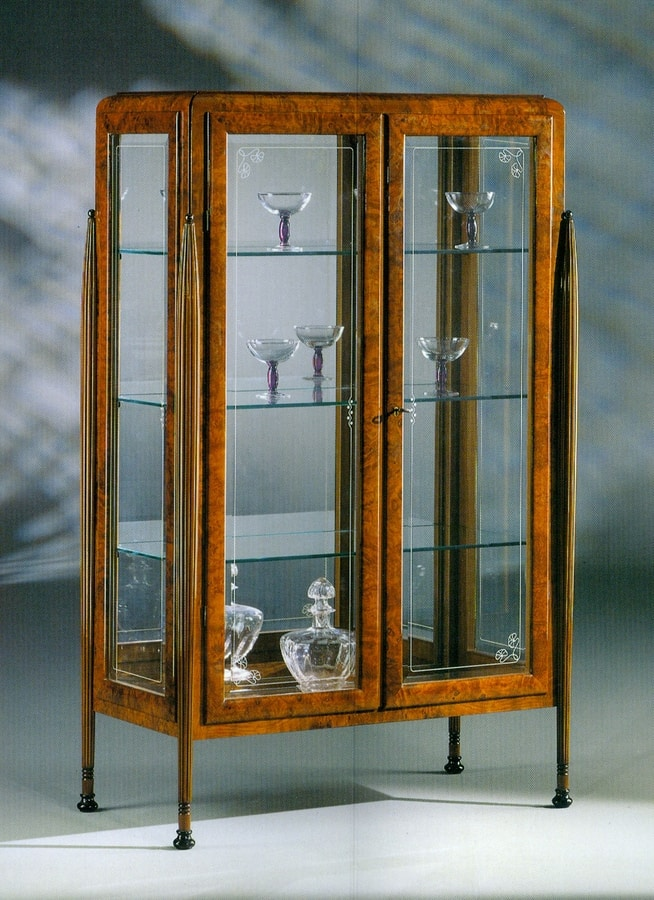 Art Déco Art.532 display cabinet, Art Deco style showcase