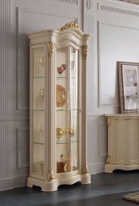 Brianza display cabinet 1 door full glass, Elegant classic display cabinet