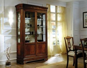 C 201, Classic display cabinet in mahogany, inlaid and veneered